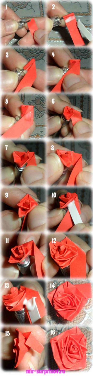 Как сделать розу для квиллинга 727
