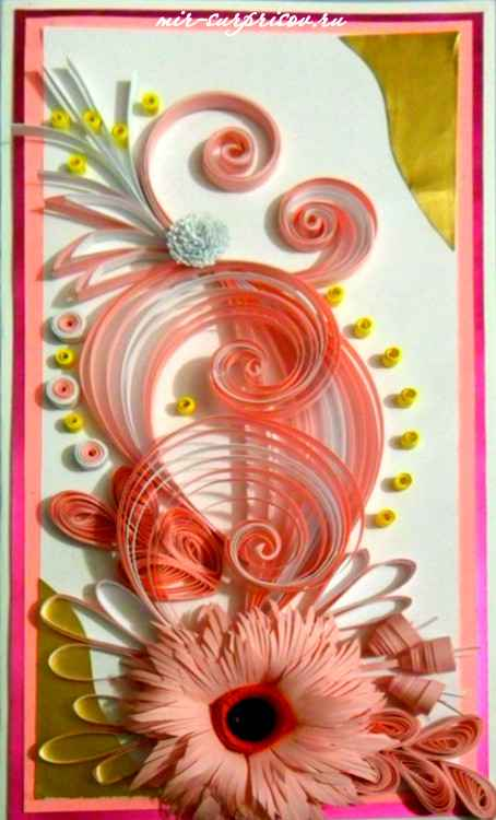 Фото открыток квиллинг